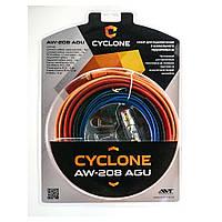 Набор для подключения 2-х канального усилителя CYCLONE AW-208 AGU