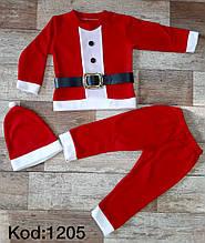 Новогодние детские костюмы Деда Мороза  6-9 месяцев