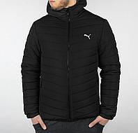 Куртка мужская зимняя чёрная с капюшоном Puma