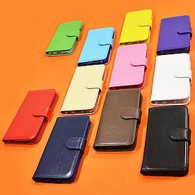 Чехол-книжка из натуральной кожи для LG L Fino Dual D295
