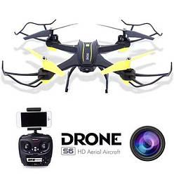 Квадрокоптер S6 c WiFi HD камерой 2 МР и LED подсветкой / Drone S6 с Wi-Fi / Вращение 360 градусов + подарок