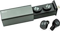 Беспроводные Bluetooth наушникиQitech Qibuds Bluetooth 5.0Black блютуз наушники черные (Qibuds5.0bk), фото 1