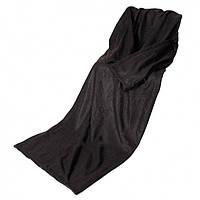 Плед с рукавами флисовый черный 130х150 см