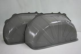 Пластиковые накладки на колесные арки в Fiat Ducato 3 (2006 г.в - ) цвет серый