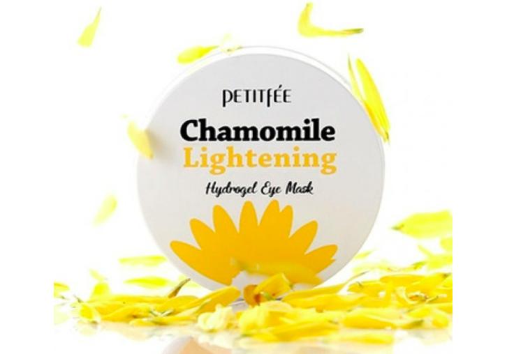 Гидрогелевые осветляющие патчи с ромашкой Petitfee Chamomile Lightening Hydrogel Eye Mask