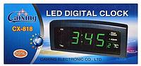 Часы будильник Caixing CX-818 настольные 220 вольт, фото 1
