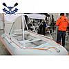Солнцезащитный тент для лодки Kolibri (К-220, К-240, К-250T, К-260Т, К-280T, K-270T), серый, фото 5