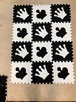 """Детский коврик-пазл  """"Шахматы"""" набор 12 штук  из EVA 1,08  м2"""