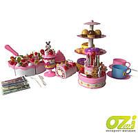 Детский игровой набор торт с аксессуарами Cake YH-03E 127 ел