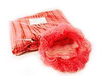 Шапочка Шарлотка одноразовая (гармошка), красная,10 шт