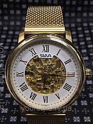 Часы Slava механика браслет золото
