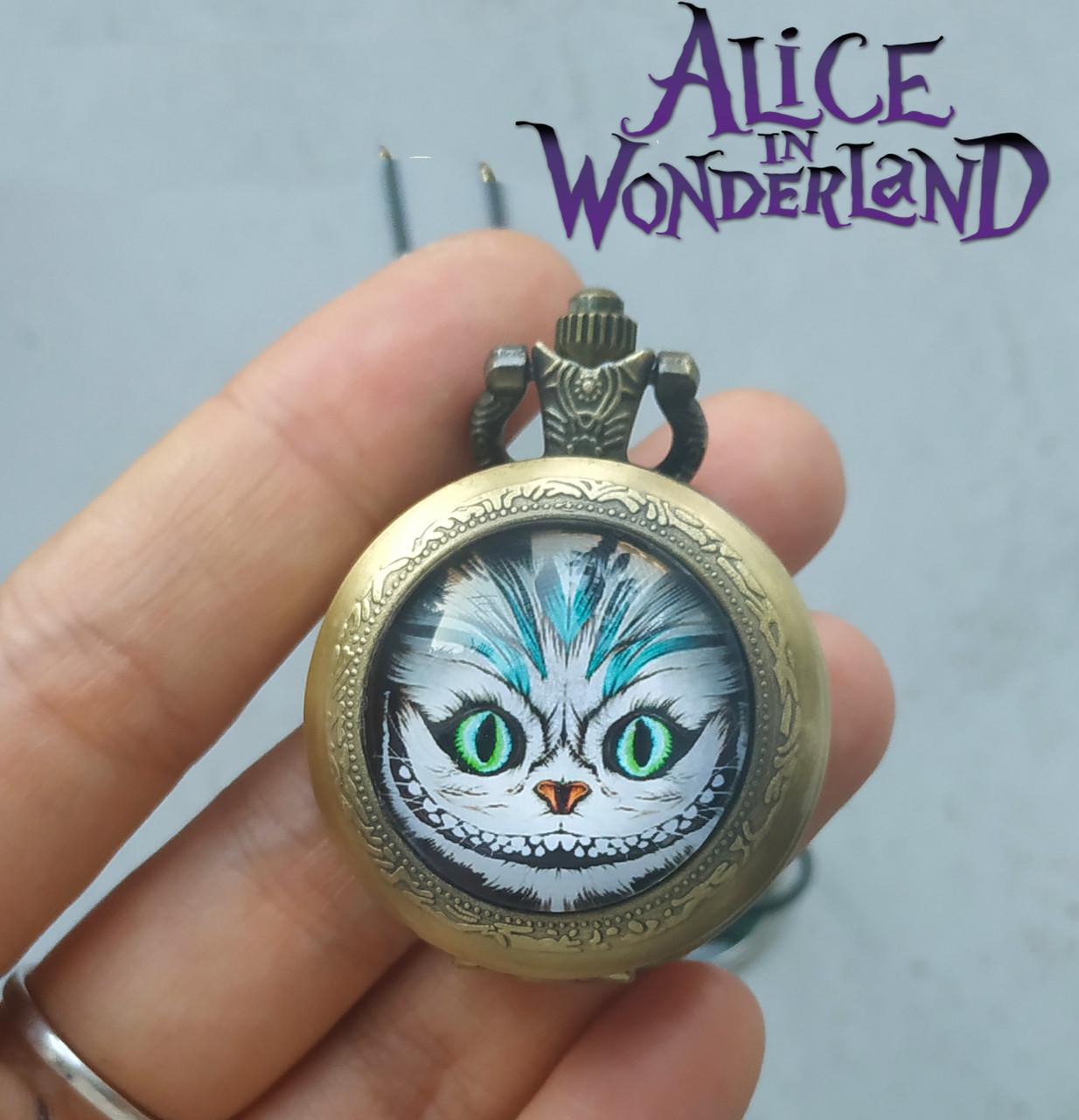 Карманные часы Чеширский Кот Алиса в стране чудес / Alice in Wonderland