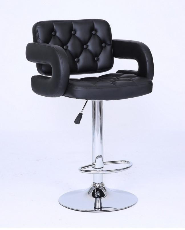 Барный стул Hoker VINCI. Цвет черный.
