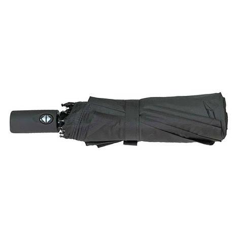 Зонт складной, автомат, 10 спиц, серый, серая ручка, фото 2