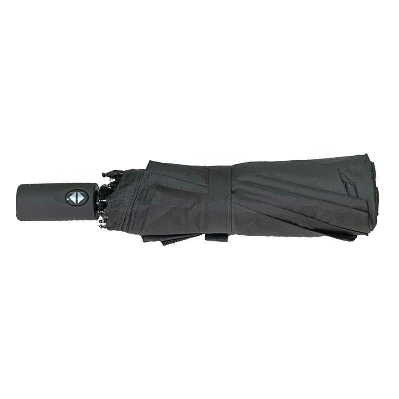 Зонт складной, автомат, 10 спиц, серый, серая ручка