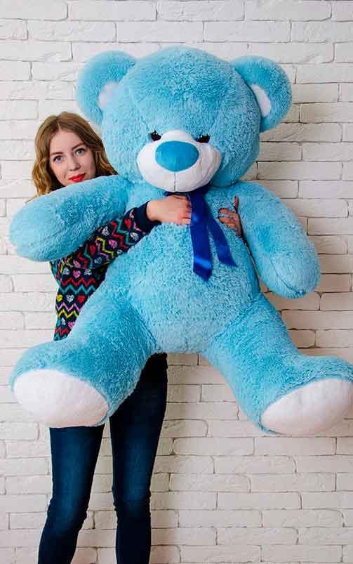 Плюшевый Мишка Томми 150см Большой Мишка игрушка Плюшевый медведь Мягкие мишки игрушки Ведмедик (Голубой)