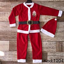 Новогодние детские костюмы Деда Мороза  размеры 74-86