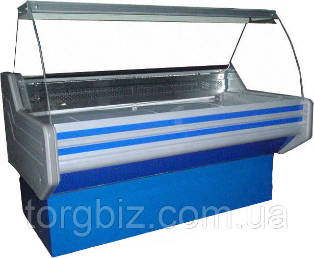Вітрина холодильна ВХСК Елегія 1.5 з гнутим склом