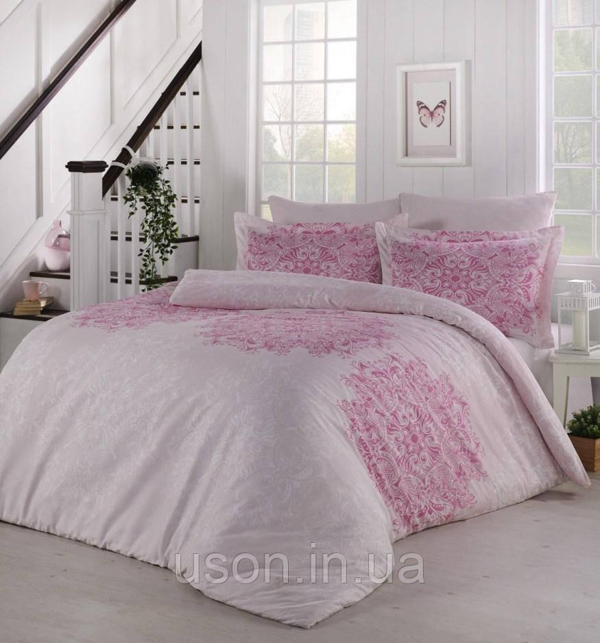 Комплект постельного белья сатин  Altinbasak  Halley Lila