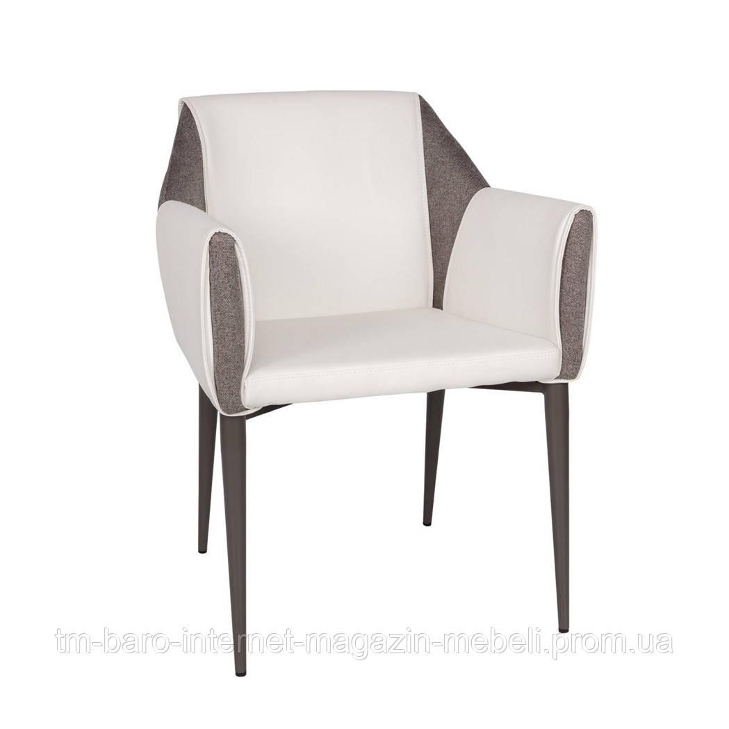 Кресло TOSCANA (61*62*82 см) белый/серый, Nicolas