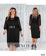Платье №087СБ-черный