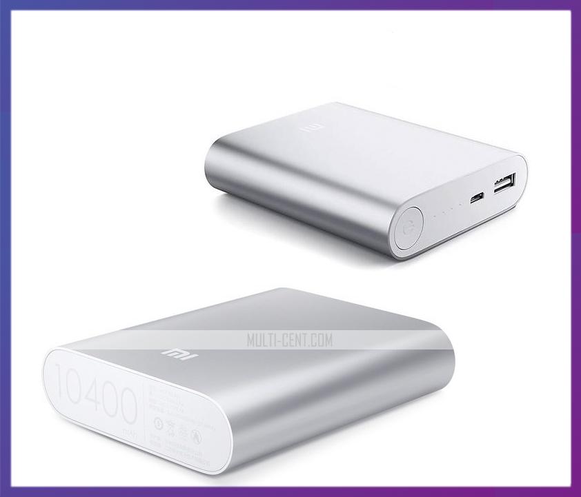 Внешний аккумулятор Xiaomi Mi Power Bank 10400 mAh, фото 1