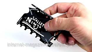 Мультитул-визитка 18 в 1 ~ Wallet Ninja