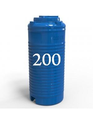 Емкость вертикальная узкая 200 литров.