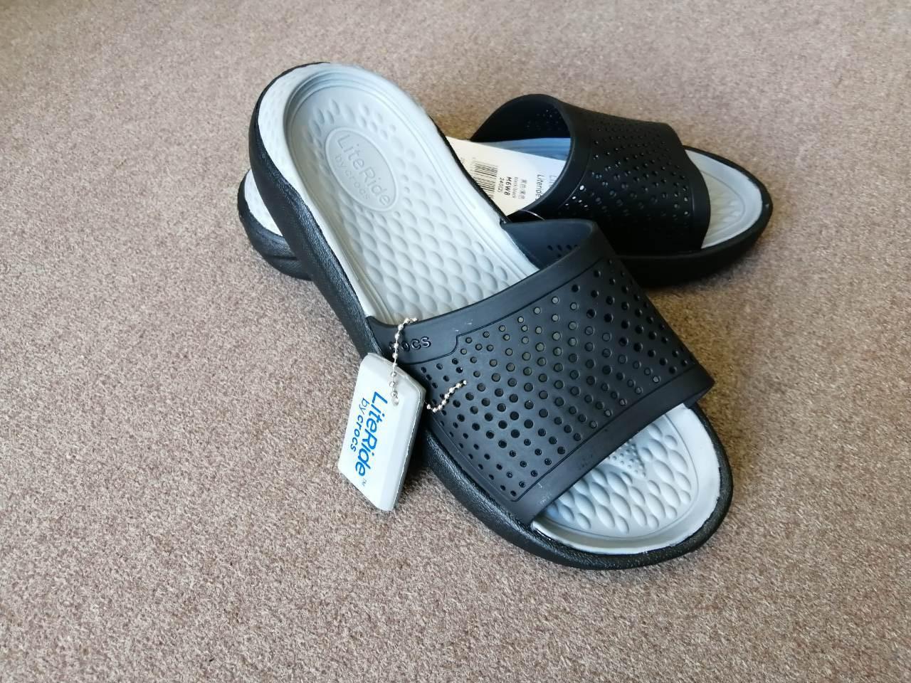 Шлёпанцы Crocs LiteRide Slide черные 38 разм.