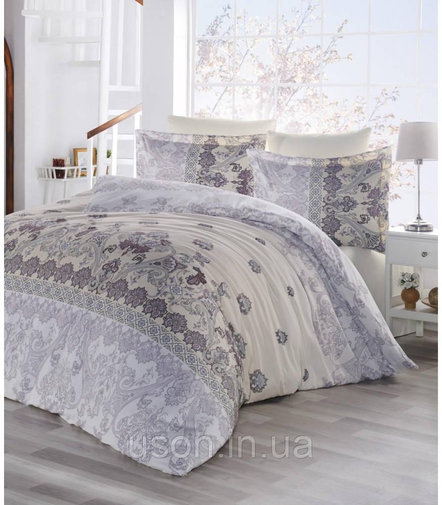 Купить Комплект постельного белья сатин Altinbasak Lina Bej евро