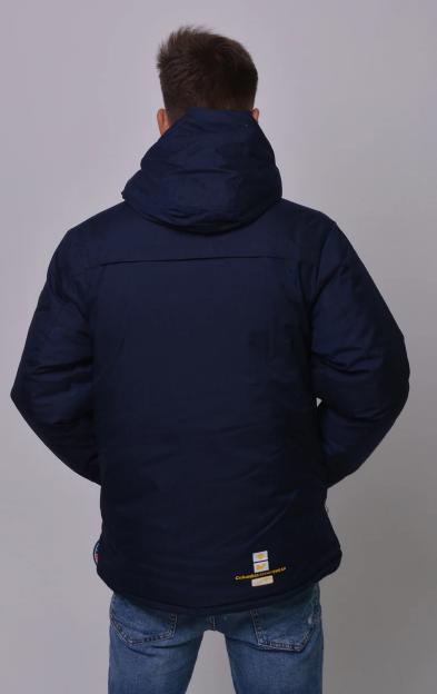 Куртка зимняя Columbia Omni-Heat горнолыжная синяя сзади