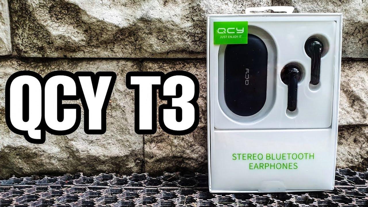 Свежий релиз 2019 года, беспроводные наушники с технологией TWS - QCY T3 Black
