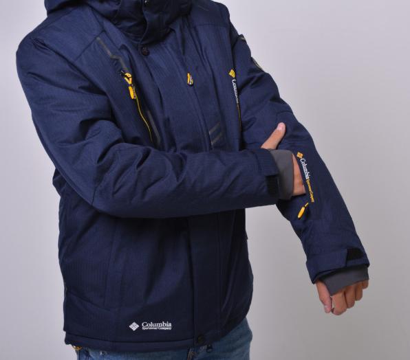 Куртка мужская зимняя Columbia Omni-Heat горнолыжная синяя
