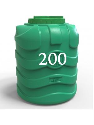 Емкость пластиковая вертикальная трехслойная 200 литров.
