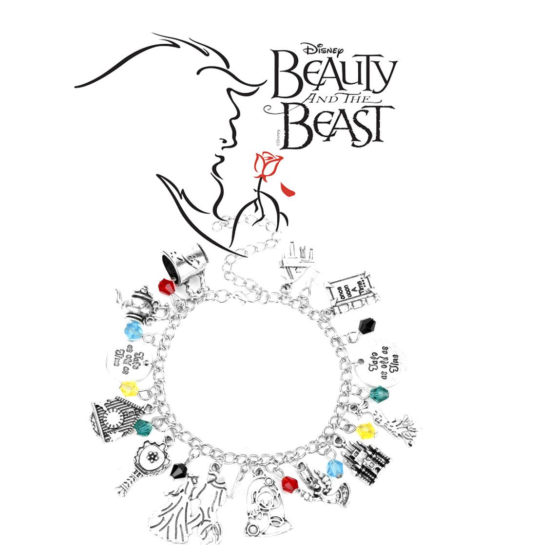 Браслет с подвесками Красавица и чудовище / Beauty and the Beast