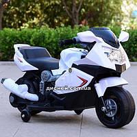 Детский мотоцикл T-7215 WHITE BMW на аккумуляторе, белый