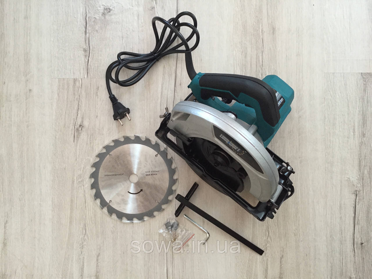 ✔️ Пила дисковая Euro Craft cs 214 _ черная коробка     1800Вт, 185мм