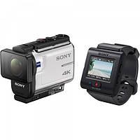 Экшн-камера SONY FDR-X3000 4K + пульт дистанционного управления с live view RM-LVR3 + держатель AKA-FGP1