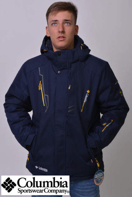 Куртка зимняя Columbia Omni-Heat горнолыжная синяя 3XL