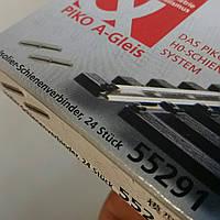 Piko 55291 Комплект изолирующих соединителей для крепления рельс Piko A-Gleis  комплект 24 шт / 1:87