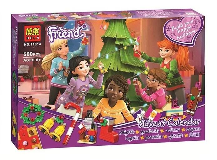 """Конструктор Bela Friends 11014 """"Новогодний календарь Friends"""" 500 деталей. Аналог Lego 41353"""