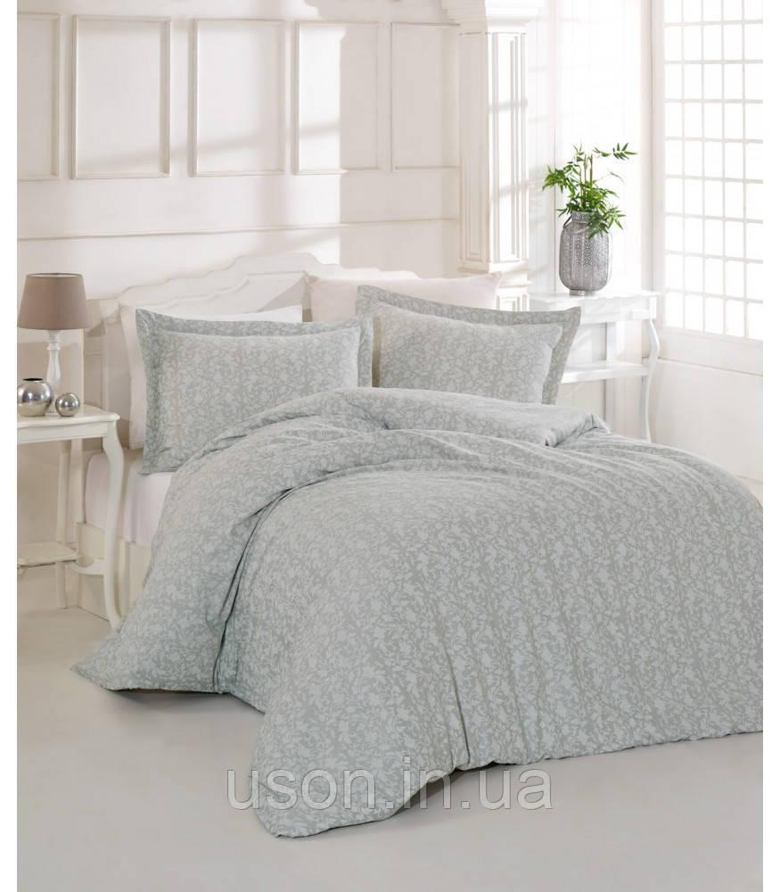 Купить Комплект постельного белья сатин Altinbasak Pretty Gri евро
