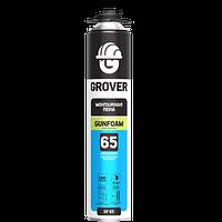 Монтажная пена всесезонная профессиональная GROVER GF65 (под пистолет), 883мл.
