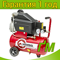 Компрессор INTERTOOL PT-0010 24 л, 1.5 кВт, 220 В, 8 атм, 206 л/мин.