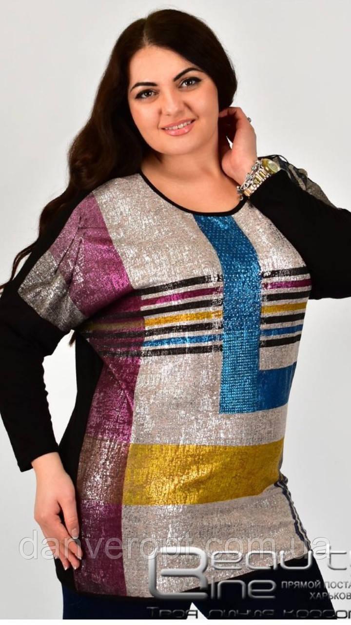 Туника женская модная стильная размер универсальный 52-54 купить оптом со склада 7км Одесса
