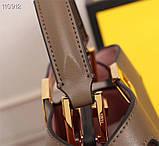 Сумка от Фенди Peecaboo  27 см, кожаная реплика, фото 4
