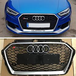 Решетка радиатора Audi A3 8V рестайлинг (2016+) стиль RS3
