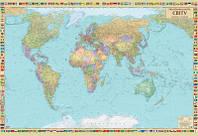 Політична карта світу (на картоні на планках), фото 1