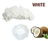 Шапочка одноразовая белая нетканая (спанбонд) на резинке Polix PRO&MED™ (100 шт/уп)