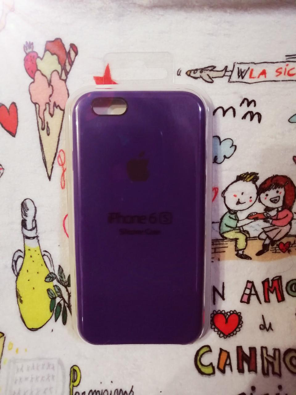 Силиконовый чехол для Айфон  6 / 6S  Silicon Case Iphone 6 / 6S в защищенном боксе - Color 38